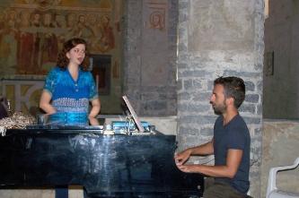 7. Репетиция с Джорджо Мартано(Италия, Монтальто Лигуре, церковь Св.Джорджо,2013).