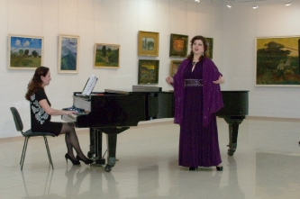 47. Concert at the opening of the exhibition N. G. Egorov  (Cheboksary, Russia, 2016)